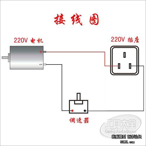 220v直流电机用电网220v交流电+可控硅和整流桥来供电
