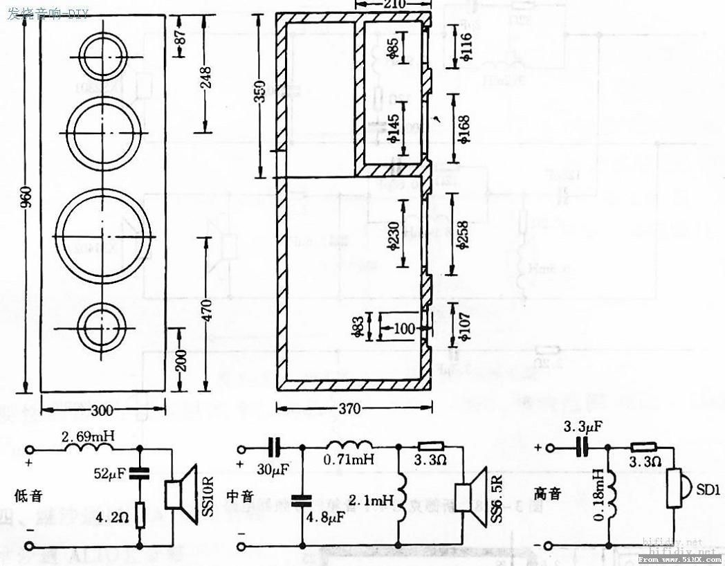 拆解jbl分频器电路图